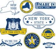 纽约州的普通邮票和标志 皇族释放例证