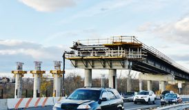 纽约布鲁克林传送带pkwy桥梁整修 免版税库存照片