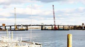 纽约布鲁克林传送带pkwy桥梁整修 免版税库存图片