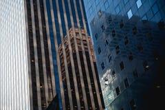 纽约抽象建筑学  免版税库存照片