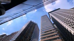 纽约摩天大楼底视图 股票视频