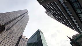 纽约摩天大楼底视图 影视素材