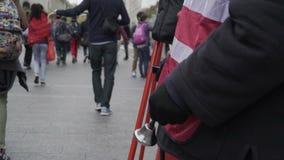 纽约救世军志愿者 影视素材