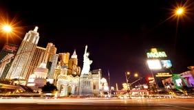 纽约旅馆娱乐场在拉斯维加斯 库存照片
