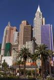 纽约旅馆,早晨,在拉斯维加斯, 2013年4月19日的NV 免版税库存图片
