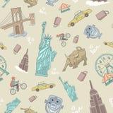 纽约无缝的样式 免版税图库摄影