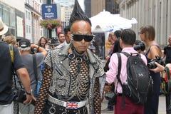纽约时尚星期春天2016年,街道穿戴 免版税库存图片