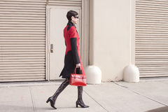 纽约时尚星期街道样式在曼哈顿 时兴的样式 免版税库存图片