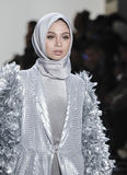 纽约时尚星期FW 2017年- Anniesa Hasibuan汇集 免版税库存照片