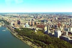 纽约是鸟` s眼睛视图 ci的摩天大楼 免版税库存照片