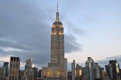 纽约曼哈顿与摩天大楼的中间地区视图 免版税库存照片