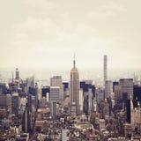 纽约曼哈顿中间地区视图 库存照片