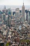 纽约曼哈顿中间地区视图 免版税库存照片