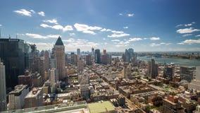 纽约曼哈顿屋顶视图天Timelapse 4k 股票录像
