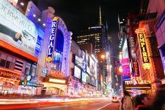 纽约曼哈顿第42街道 库存图片