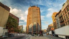 纽约曼哈顿街道天timelapse云彩 影视素材