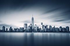 纽约有新的世界贸易中心更低的曼哈顿 库存图片