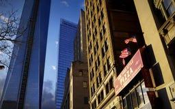 纽约样式比萨店 免版税库存照片