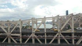 纽约桥梁和地平线鸟瞰图 影视素材