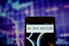 纽约梅隆银行商标被显示 免版税库存图片