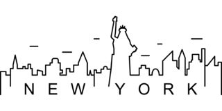纽约概述象 能为网,商标,流动应用程序,UI,UX使用 库存例证