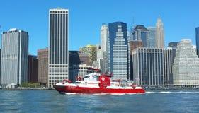 纽约消防队船 免版税库存照片