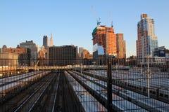 从纽约生产线上限的看法 库存照片