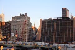 从纽约生产线上限的看法 库存图片