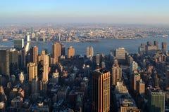 纽约的看法从摩天大楼帝国大厦的 库存图片