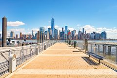 纽约看法从泽西市的 免版税库存照片