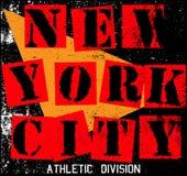 纽约纹理T恤杉图形设计 免版税库存照片