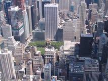 纽约美国全景  库存照片