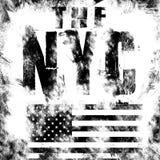 纽约艺术 街道图表样式NYC 时尚时髦的印刷品 模板服装,卡片,标签,海报 象征, T恤杉邮票 库存照片