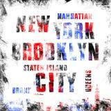 纽约艺术 街道图表样式NYC 时尚时髦的印刷品 模板服装,卡片,标签,海报 象征, T恤杉邮票g 库存照片