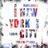 纽约艺术 街道图表样式NYC 时尚时髦的印刷品 免版税库存照片