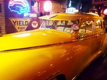 纽约葡萄酒出租汽车 库存照片