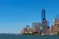 纽约街市的世界贸易中心 库存图片