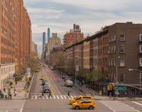 纽约街景画 免版税库存图片
