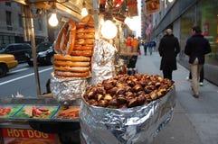 纽约街道食物 库存图片