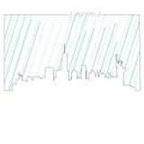 纽约被隔绝的地平线  免版税库存照片