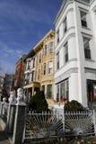 纽约褐砂石在贝得福得Stuyvesant邻里在布鲁克林 免版税库存照片