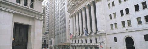 纽约证券交易所在更低的曼哈顿,纽约, NY财政区  库存图片