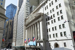 纽约证券交易所大厦 免版税图库摄影