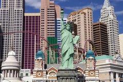 纽约赌博娱乐场和旅馆在拉斯维加斯,内华达 免版税库存图片