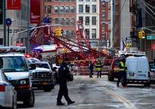 纽约起重机崩溃 免版税图库摄影