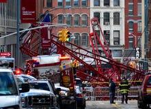 纽约起重机崩溃 免版税库存图片