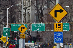 纽约路标 库存图片