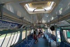 纽约运输博物馆葡萄酒公共汽车打击15 库存照片