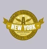 纽约连续印刷术, T恤杉图表,传染媒介格式ep 免版税库存照片