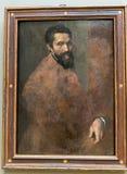 纽约遇见的米开朗基罗Buonarroti画象 免版税库存图片